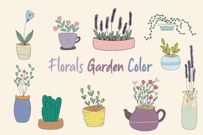 Florals Garden handgezeichnet