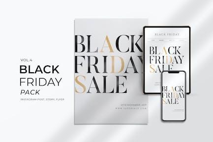 Black Friday Promotion Flyer and Instagram Vol. 4