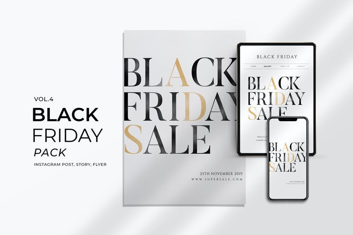Thumbnail for Black Friday Promotion Flyer and Instagram Vol. 4