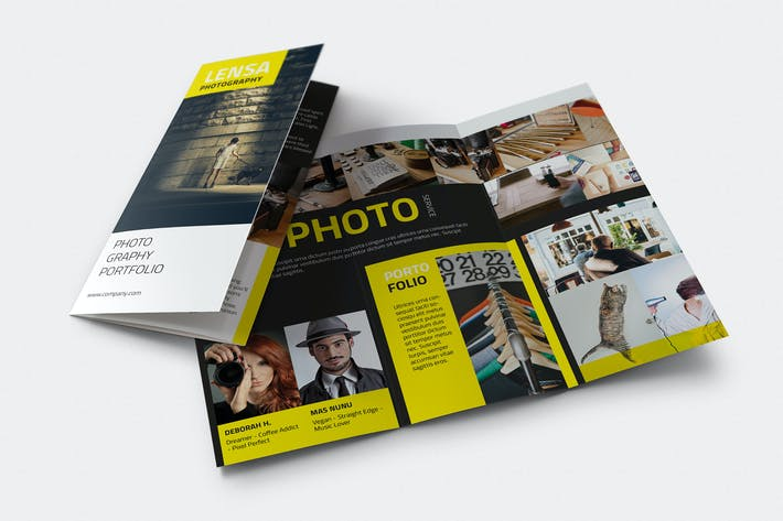 Lensa Photography Trifold Brochure