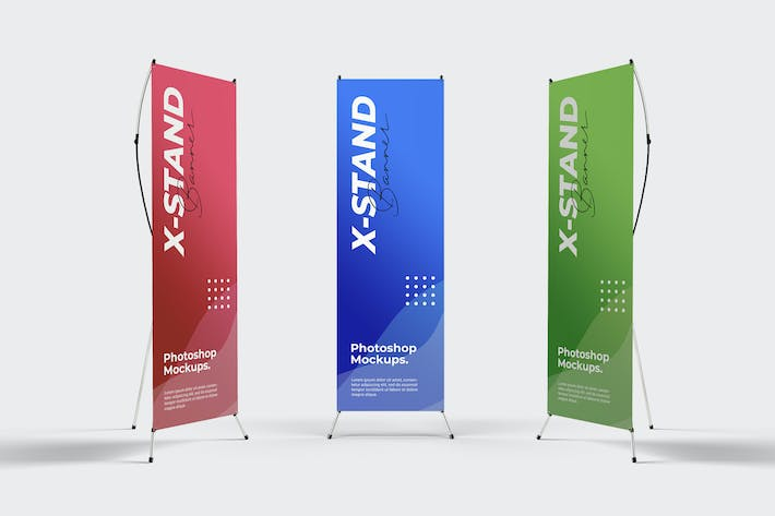 Thumbnail for X-Stand Banner Mockups