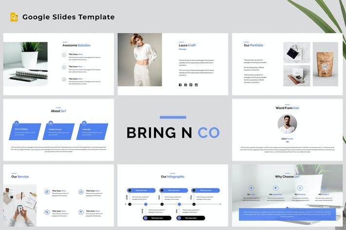 Thumbnail for Bring N Co - Corporate Google Slides Template