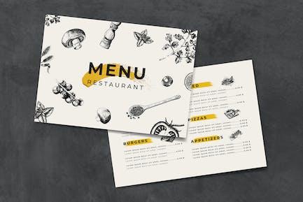 Italian cuisine menu template vector