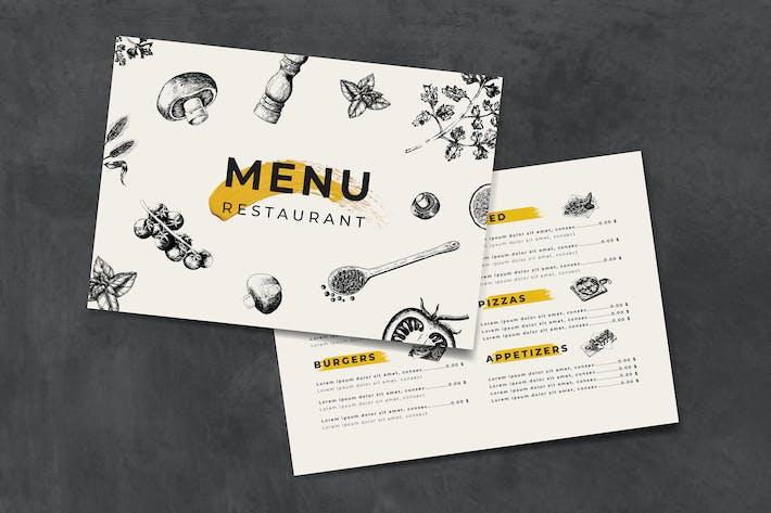 Thumbnail for Italian cuisine menu template vector