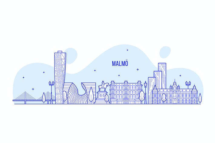 Thumbnail for Malmo skyline, Sweden