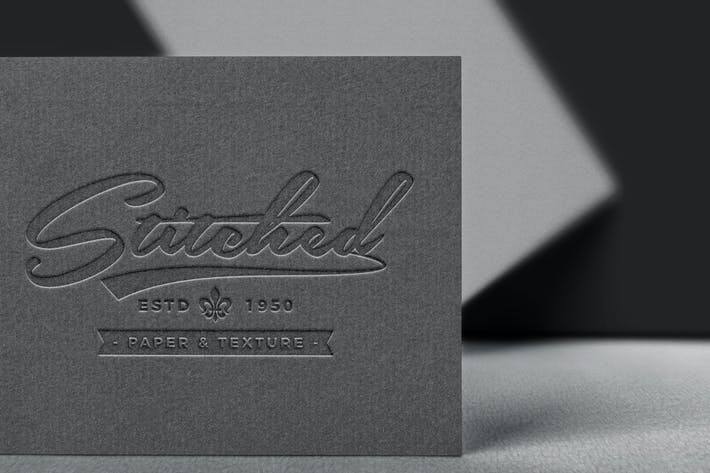 Thumbnail for Paper Pressed Logo Mockup