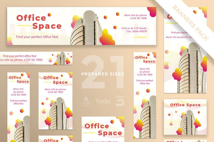 Office Space Banner Pack Template