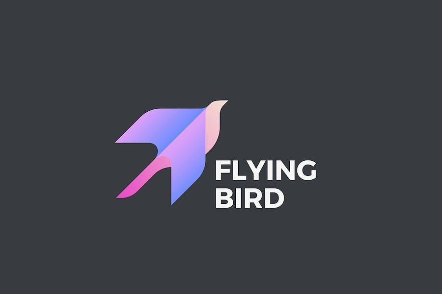 Flying Bird Logo Geometric design style