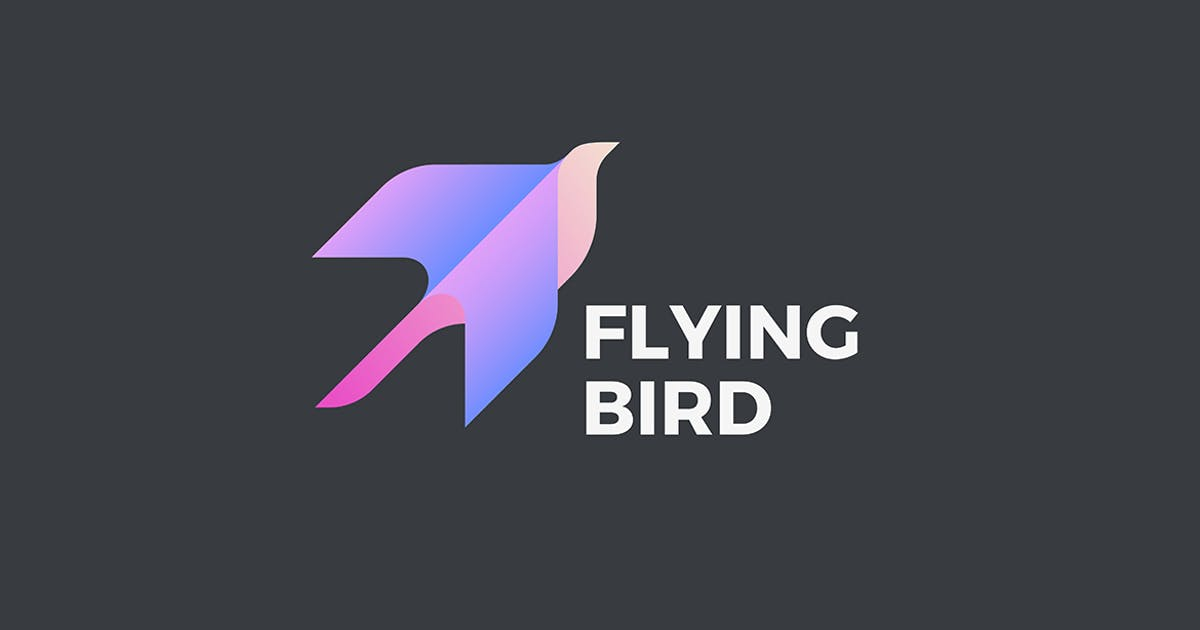 Download Flying Bird Logo Geometric design style by Sentavio
