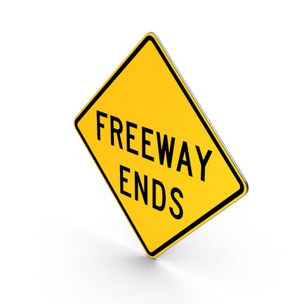 Freeway Ends Road Sign