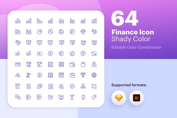 Thumbnail for Finance Icon - Shady Color