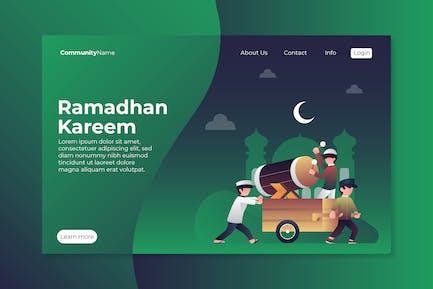 Ramadhan Kareem Landing Page