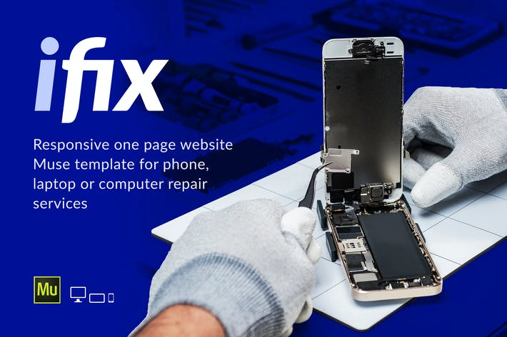 Thumbnail for iFix - Phone / Electronic Repair Service Template