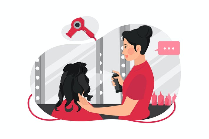 Thumbnail for The process of cutting and styling women hair