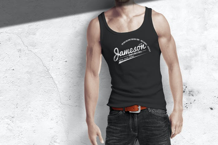 Thumbnail for Man Tank Shirt Mock-up