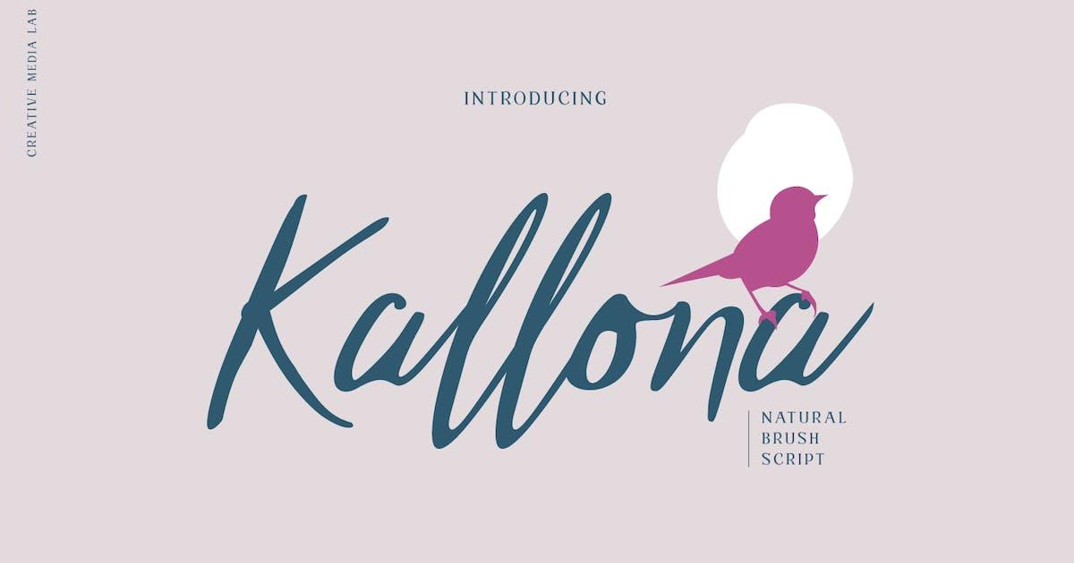 Download Kallona - Natural Brush Script font by creativemedialab