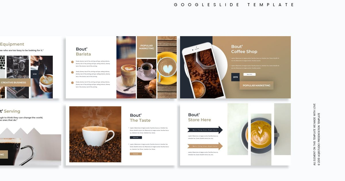 Download The Coffean - Google Slides Template by aqrstudio