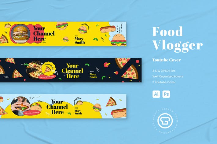 Thumbnail for Food Theme Youtube Cover/ Banner