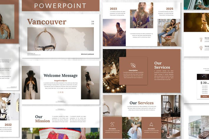 Thumbnail for Vancouver - Lookbook Powerpoint Template