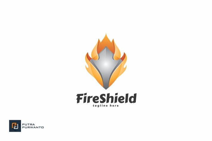 Thumbnail for Fire Shield - Logo Template