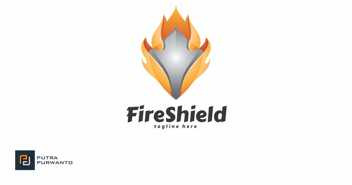 Download Fire Shield - Logo Template by putra_purwanto