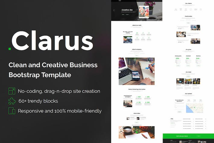 Thumbnail for Clarus - Mobirise HTML Site Builder