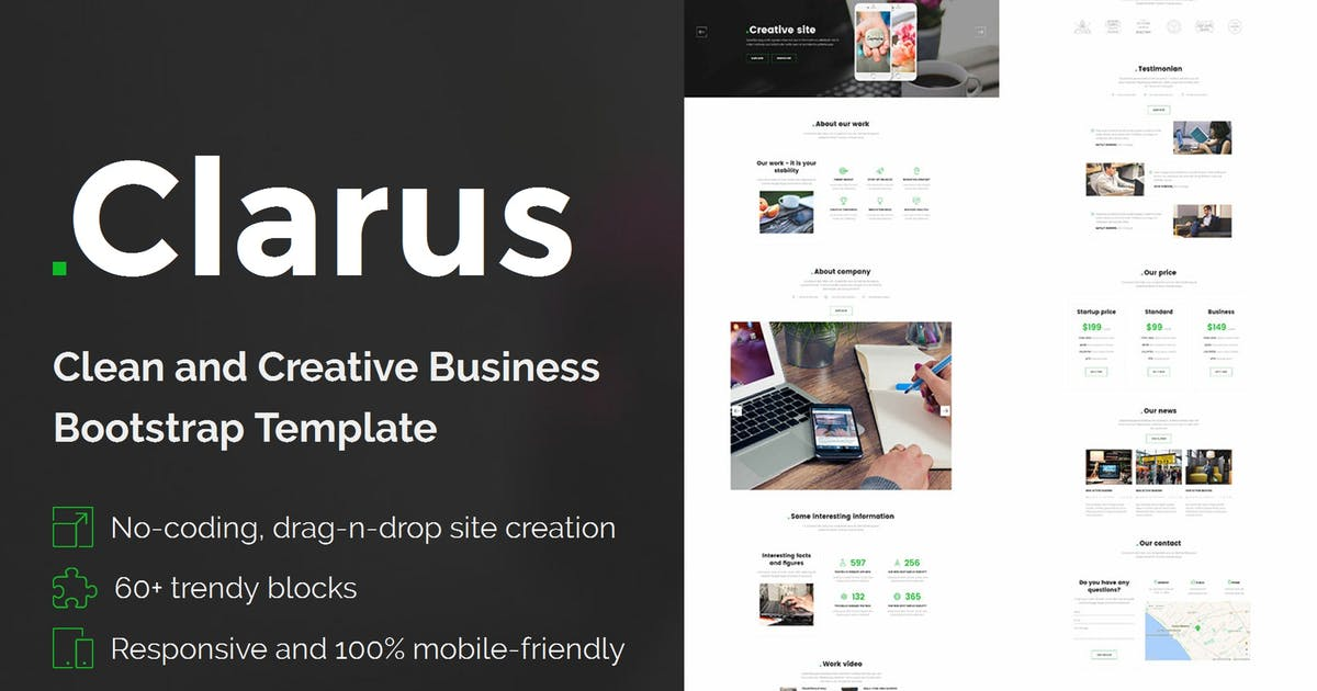 Download Clarus - Mobirise HTML Site Builder by Theme-Express