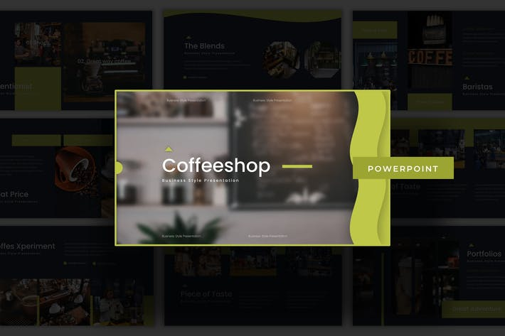 Thumbnail for Coffeeshop - Powerpoint Template