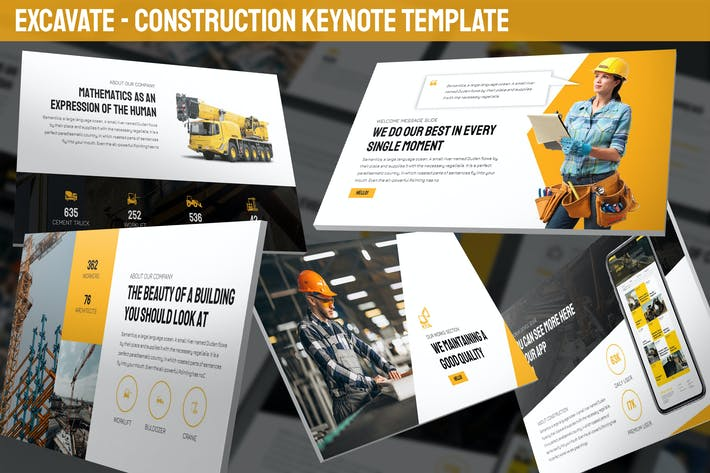 Thumbnail for Excavate - Construction Keynote Template