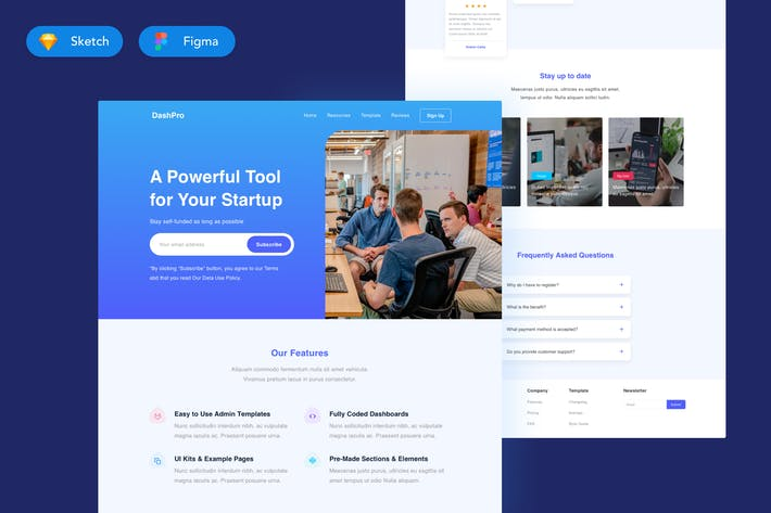 Thumbnail for Dashboard Pro - Landing Page Design