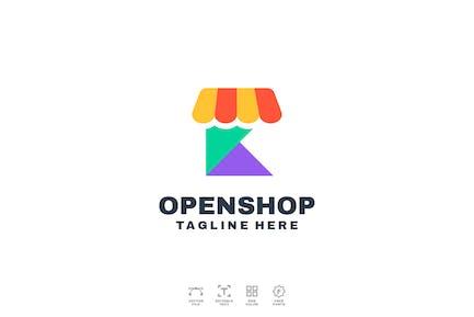 Open Shop Logo Design
