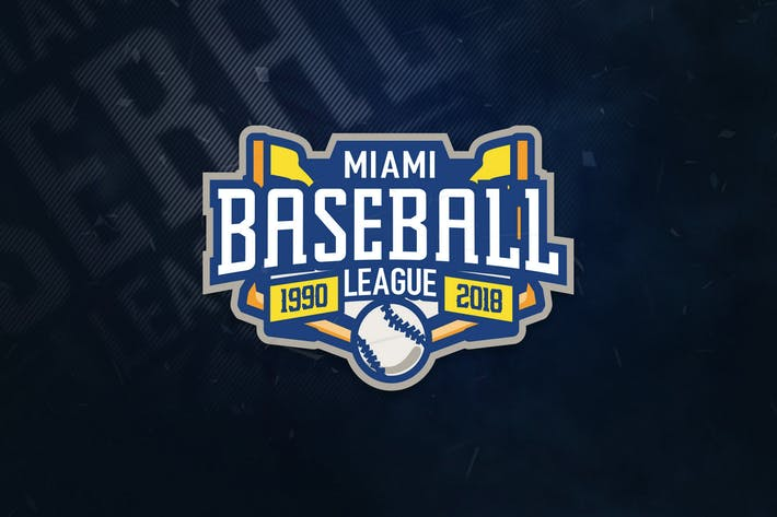 Thumbnail for Miami Baseball League Sports Logo