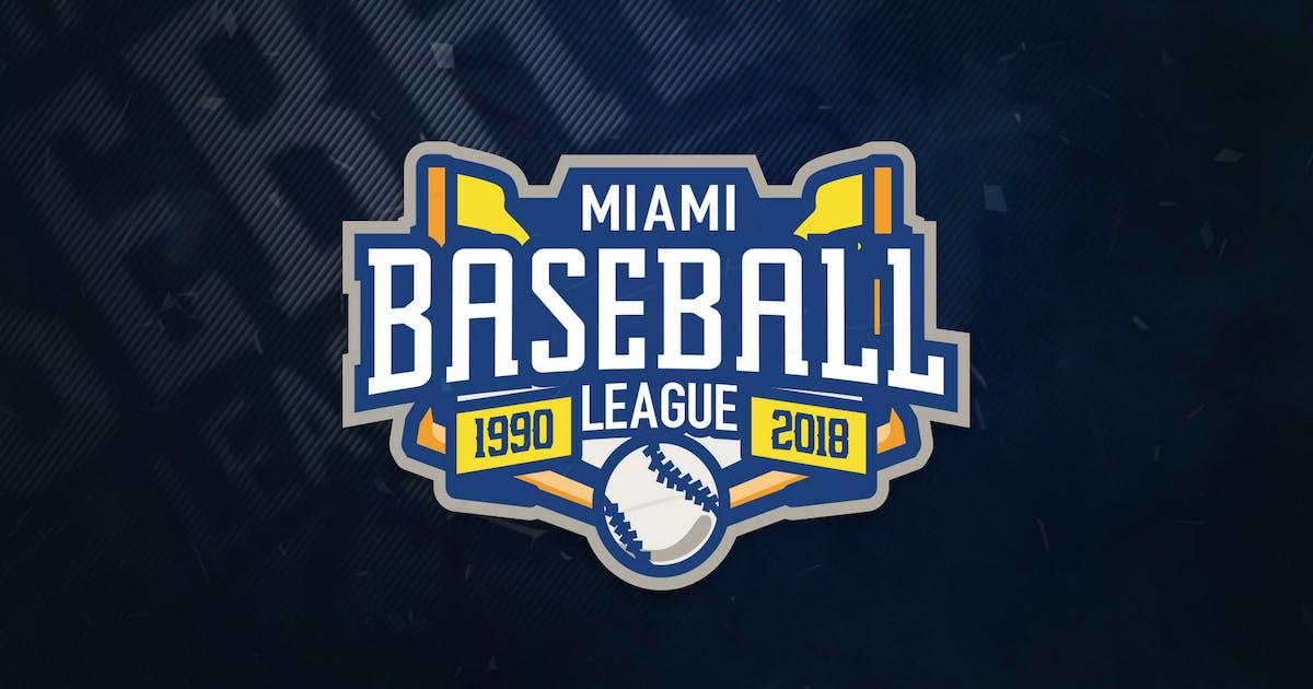Miami Baseball League Sports Logo by ovozdigital