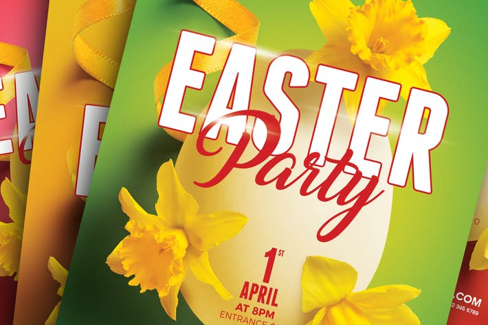 Thumbnail for Easter / Spring Party A5 Flyer Template