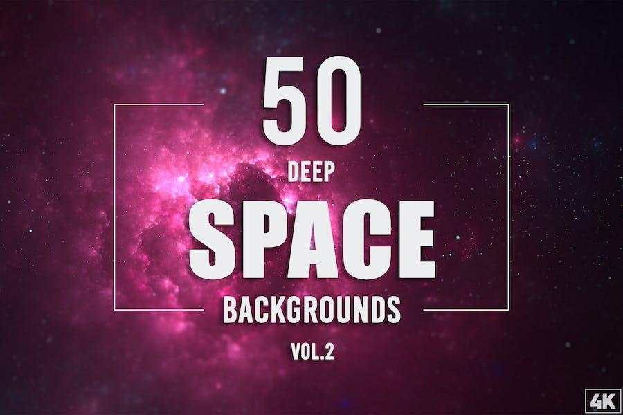 50 Deep-Space-Hintergründe - Band 2