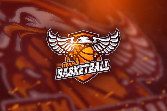 Thumbnail for Basketball falcon - Mascot & Esport Logo