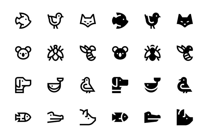 Thumbnail for 44 Animal icons