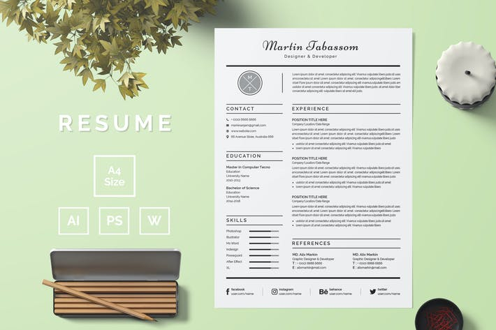 Thumbnail for Resume Template 54