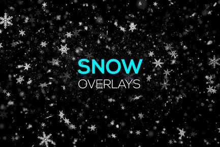 Snow and Snowflakes Overlays