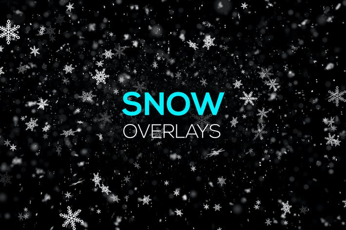 Thumbnail for Snow and Snowflakes Overlays