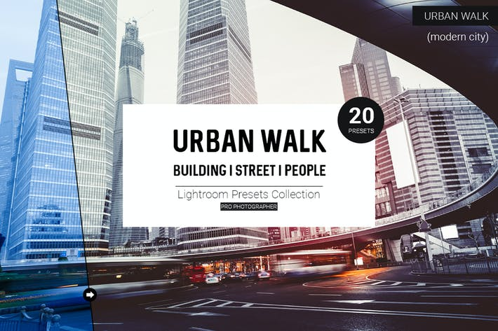 Thumbnail for пресеты Urban Walk Lightroom