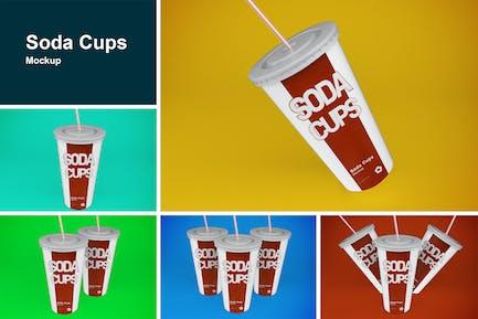 Soda Cups Mockup