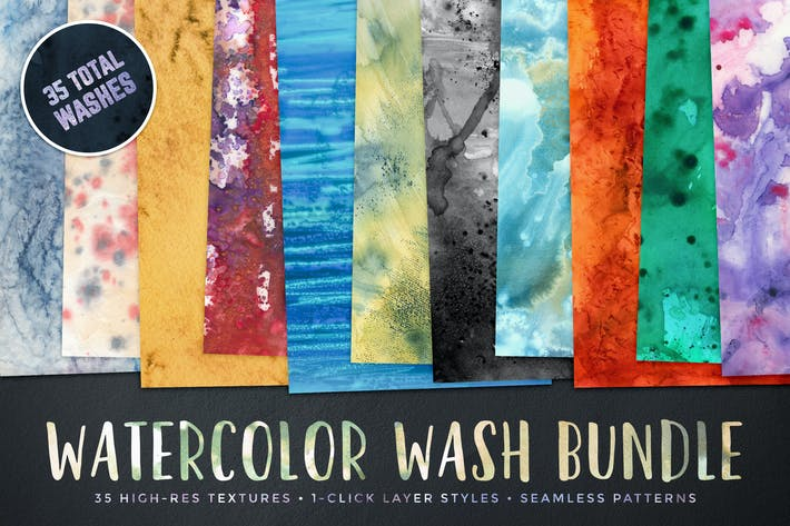 Thumbnail for Watercolor Wash Bundle Volume 1