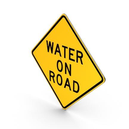 Water On Road Schild
