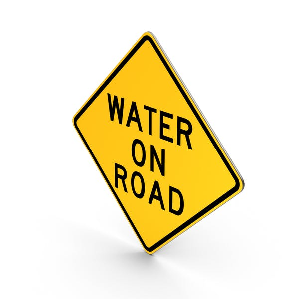 Water On Road Sign