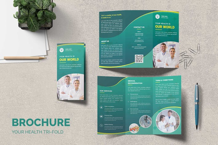 Pharmacy Health Trifold Brochure