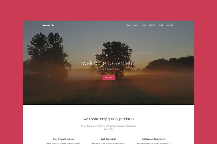 Thumbnail for Sematic - One Page Joomla Template