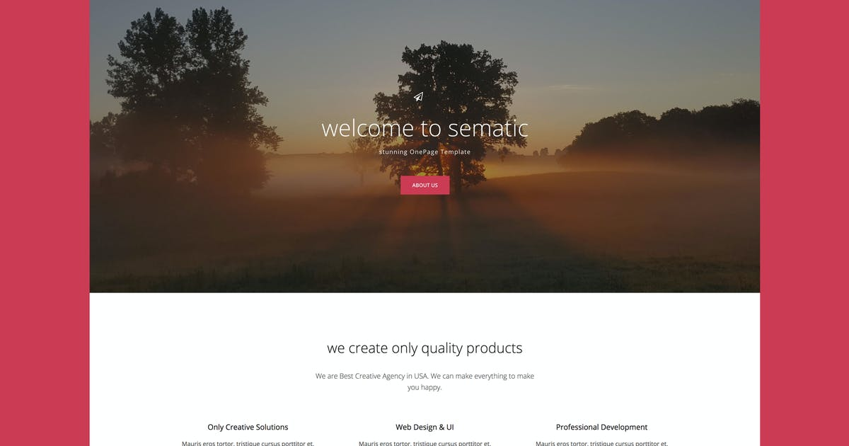 Download Sematic - One Page Joomla Template by Nunforest
