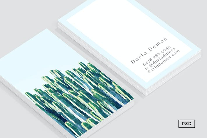 Thumbnail for Cactus Business Card Template