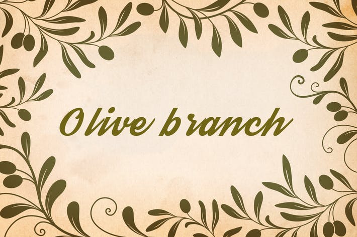Thumbnail for Decorative Olive Branches